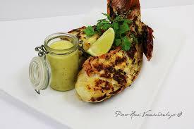 cuisine langouste plancha queues de langouste grillées vinaigrette à la et poivre de timut