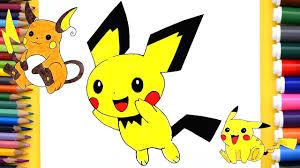 coloring pages pikachu pokemon pikachu coloring pages pikachu evolution pichu pikachu