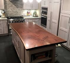 Wood Tops For Kitchen Islands Live Edge Wood Countertops Custom
