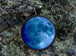 blue moon necklace images Glowing necklace blue moon glow in the dark glow moon etsy jpg