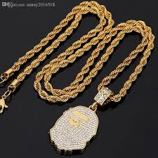 gold animal pendant necklace images Wholesale new design shiny diamond crystal animal pendant necklace jpg