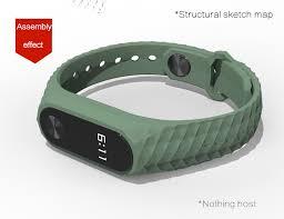 replacement silicone wrist bracelet images Original xiaomi mi band 2 smart wristbands silicone strap black jpg