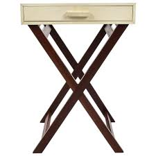 Zebra Side Table White Parchment Side Table With Crossed Legs Galart
