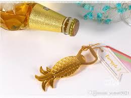wedding favors bottle opener 2016 newest wedding favor golden pineapple wine bottle opener