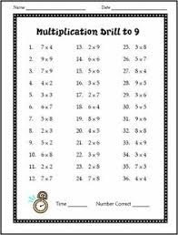 multiplication drill worksheet customizable and printable kids