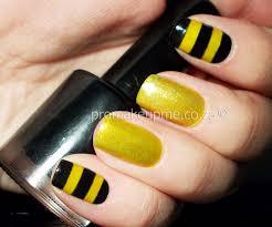 yellow black and gold honey bee nail art u2013 promakeupme