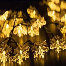 solar powered led fairy lights 30 leds 6m snowflake solar power led string fairy lights solar