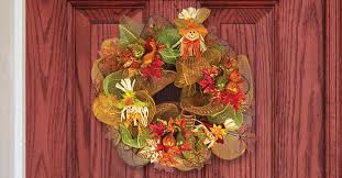 deco mesh ideas harvest deco mesh wreath for 15 the dollar tree