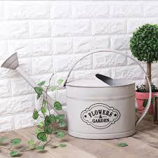 french style white shabby rustic watering can galvanized iron