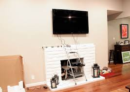 hide cables wall mount tv fireplace hiding wires for wall mounted