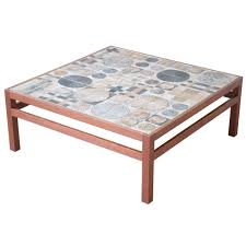 jofran baroque end table teak coffee table by willy beck with tue poulsen tile top at 1stdibs