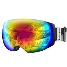 best low light ski goggles outdoormaster ski goggles pro frameless interchangeable lens 100