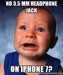 Baby Headphones Meme - apple officially ditches the 3 5mm headphone jack now what