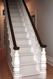Newel Post To Handrail Fixing Best 25 Painted Stair Railings Ideas On Pinterest Painting