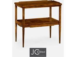 walnut country style side table qj491020cfw
