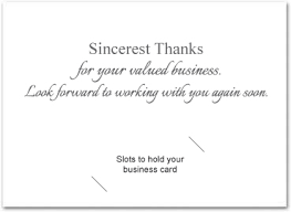 business thank you cards business thank you cards with slots business greeting cards