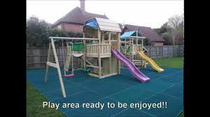 Rubber Mats For Backyard by Jungle Gym Climbing Frames Being Installed With Safety Rubber Mats