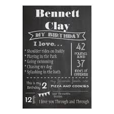 birthday chalkboard birthday chalkboard poster zazzle