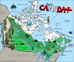 Canada Map Coloured by Civilization Canada Esl Resources