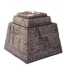 egyptian pyramid tea light candle box 4 5 inches
