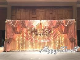 wedding backdrop fairy lights 10ft 20ft luxury wedding curtain backdrop with ruffled drapes and