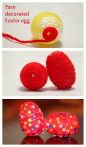 easter egg decorating ideas yarn wrapped eggs sparklingbuds