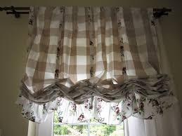 valance plaid floral ruffle kitchen curtain balloon valance