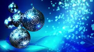 Blue Snowflakes Decorations Christmas Background Loop Rotating Christmas Decorations And