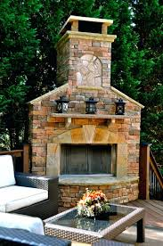outdoor fireplace designs pictures ideas deck with brick mantel