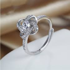 korean wedding rings korean personality interwoven s925 sterling silver engagement ring
