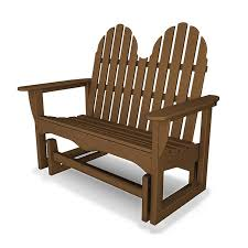 Gliding Adirondack Chairs Adirondack Outdoor Glider Bench Polywood All Weather Durable
