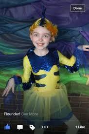 Baby Flounder Halloween Costume Flounder Costume Mermaid Jr Flounder