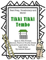 tikki tikki tembo worksheets tikki tikki tembo text talk vocabulary comprehension test prep