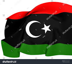 Lybian Flag Flag Libya Close Up Stock Illustration 135423449 Shutterstock