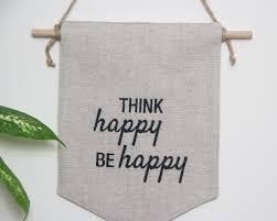 hippie home decor uk boho wall banner think happy bee happy emodi