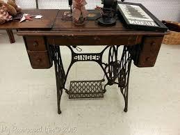 Antique Singer Sewing Machine Table Desk Sewing Table Computer Desk Sewing Table Desk Love My New