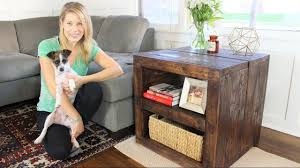 Diy Side Table The Rustic Side Table Diy Project