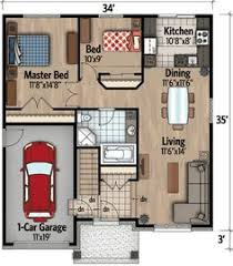 Two Bed Room House Luv This House Plan Would Have Only 1 Bedroom On Main Floor