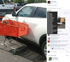 Home Depot Cart by Texas Home Depot Patron Teaches Driver Of Double Parked Vehicle