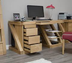 French Computer Desk by Z Shape Solid Oak Large Computer Desk Oak Furniture Uk