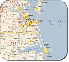 map of virginia and carolina with cities map of virginia travelsmaps
