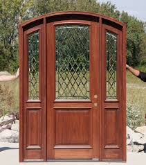 wood and glass exterior doors arch top doors bellagio mahogany doors collection