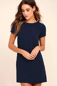 shift dress chic navy blue dress shift dress sleeve dress 48 00