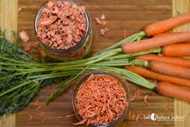 Freezing Root Vegetables - how to dehydrate carrots plus a word about blanching self