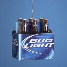 pack of 12 happy hour bud light 6 pack of bottled beer christmas