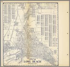 Map Of Los Angeles Area Beaches by Thomas Bros U0027 Map Of The City Of Long Beach California David