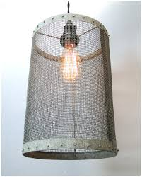 wire barrel pendant light fixture aged galvanized look old pics