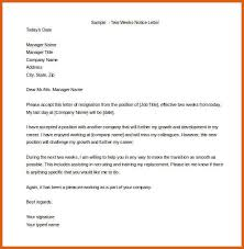 two weeks notice letter example apa examples