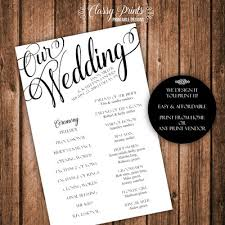 print at home wedding programs wedding programs posh pixel designs online store powered by