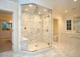 white porcelain soaking bathtub white polished master bathroom interior brown bowl design flooring pedestal tile scheme